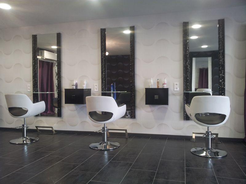 salon de coiffure ambiance moderne Le fil de lme Nos ralisations Meubles pour coiffeur Paris