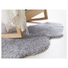 Sheepskin Rug On Chair Living Room Grey Faux Plus Rocking For Home