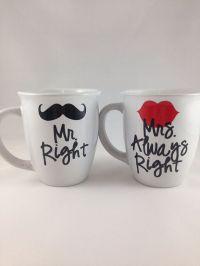 Mr Right, Mrs Always Right Coffee Mug Set, Bride/Groom ...
