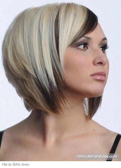 A Line Haircuts And Colors Medium Two Tone Bob Haircut Medium