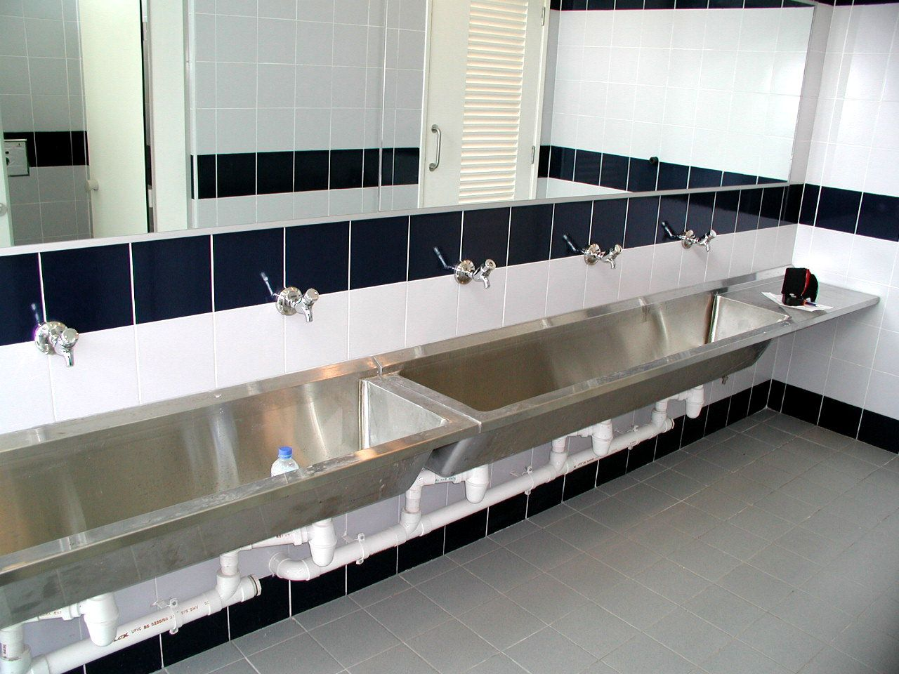 Stainless steel bathroom sinks for commercial areas  Home
