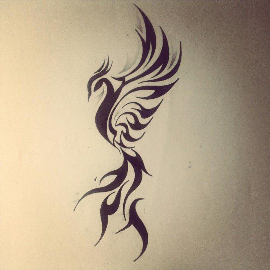 Tribal Real Tattoo Phoenix Rising