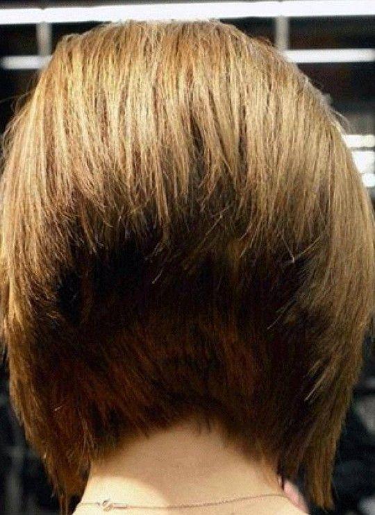 Back View Of 45 Degree Short Wedge Bob Haircut Bobs Short Wedge