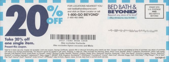 Bed Bath Beyond Printable Coupon 20 Percent Off In