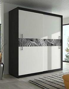 Brand new modern bedroom sliding door wardrobe ft inch cm black also rh pinterest