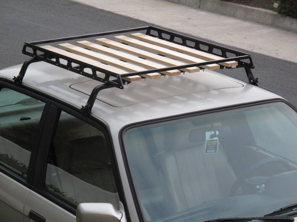 wood roof rack diy