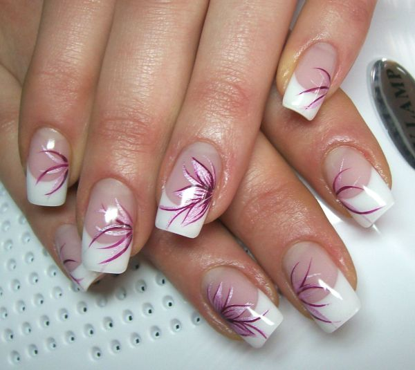 Nageldesign French Manicure Nails And Makeup