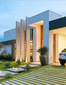 Arquitetura para se viver  pe direito duplo deixa  fachada imponente house architecturearchitecture interior designmodern also rh pinterest