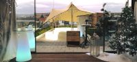 7m x 6m Biege Stretch Canopy set up for wedding reception ...