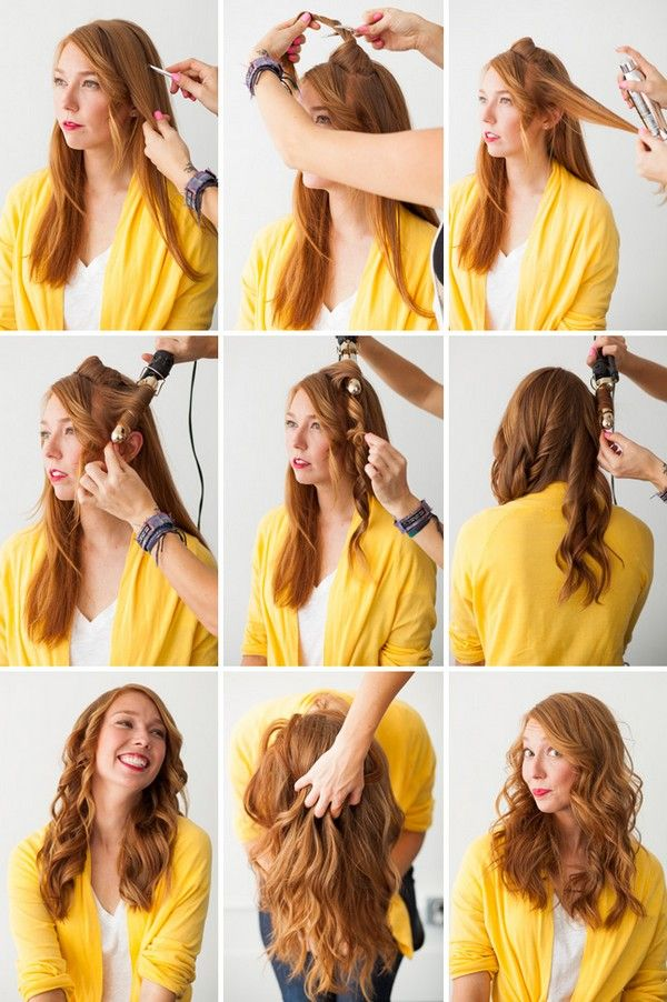 Create Curls With A Hair Straightener Step By Step Hair