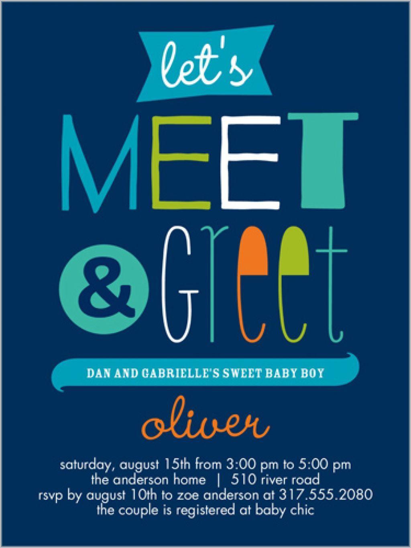 Family Meet And Greet Invitation
