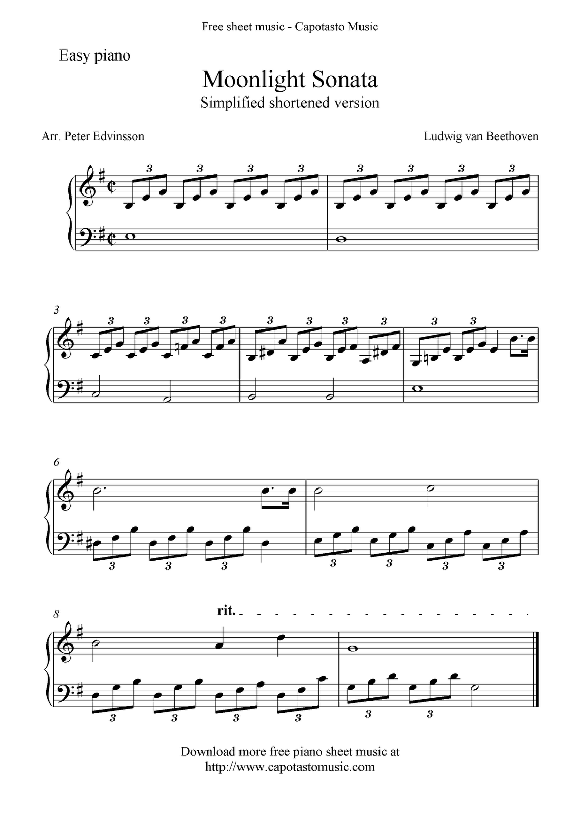 Piano Sheet Music For Beginners
