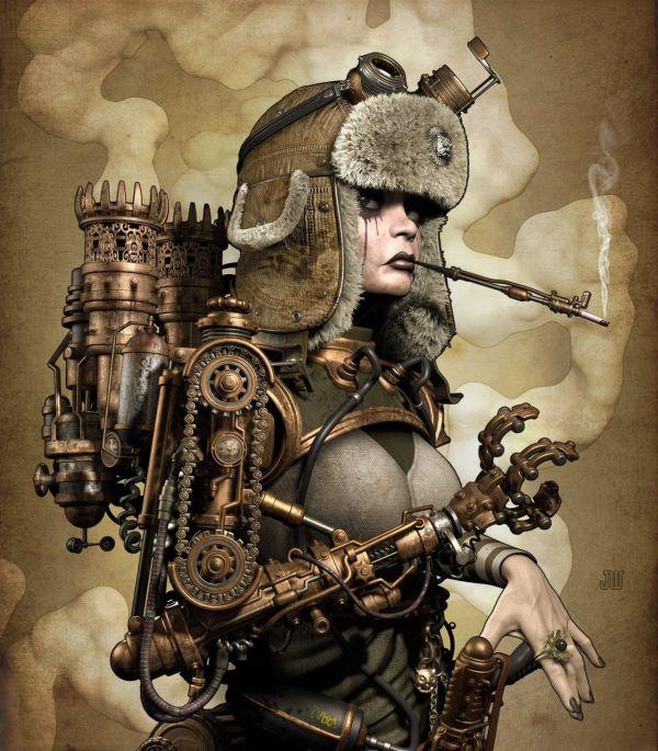 Steampunk Tank Girl Jef Wall Comics Vigilantes