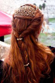 medieval hair braid and ornament