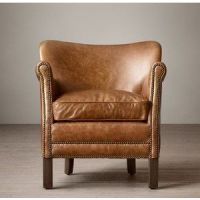 Professor's Leather Chair With Nailheads - Restoration ...