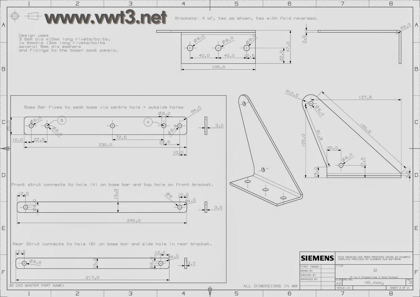 www.vwt3.net: Mecanismo sofa cama CAMPER: planos técnicos