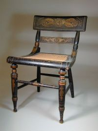 American Federal Paint-Decorated Fancy Side Chair ...