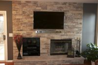 feature walls with tv and fireplace | Inspiring Stone ...