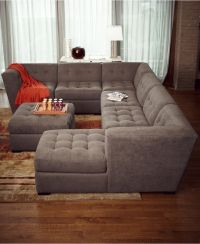 Roxanne Fabric 6-Piece Modular Sectional Sofa with Ottoman ...