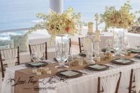 Table setup Mint and Off-White Elegant Rustic Wedding at ...