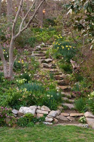 make natural and winding hillside