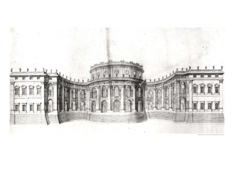 ITALIAN BAROQUE ARCHITECTURE, Bernini; project for the