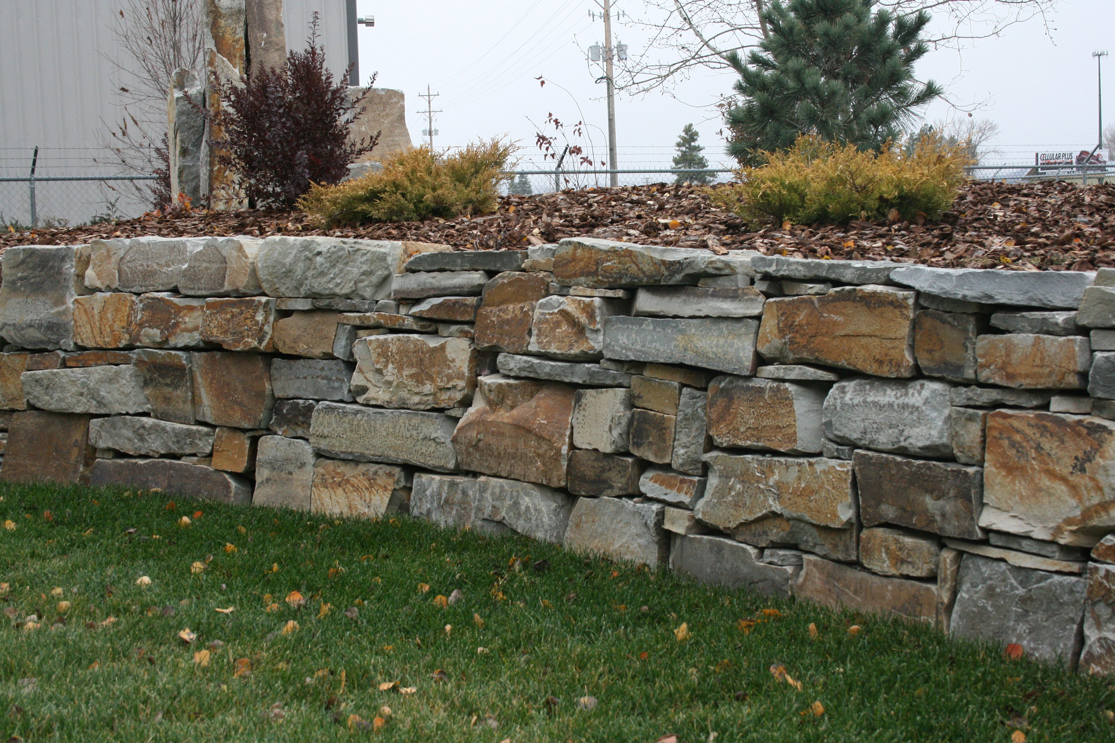Chief Cliff Drystack Garden Wall From Montana Rockworks #design