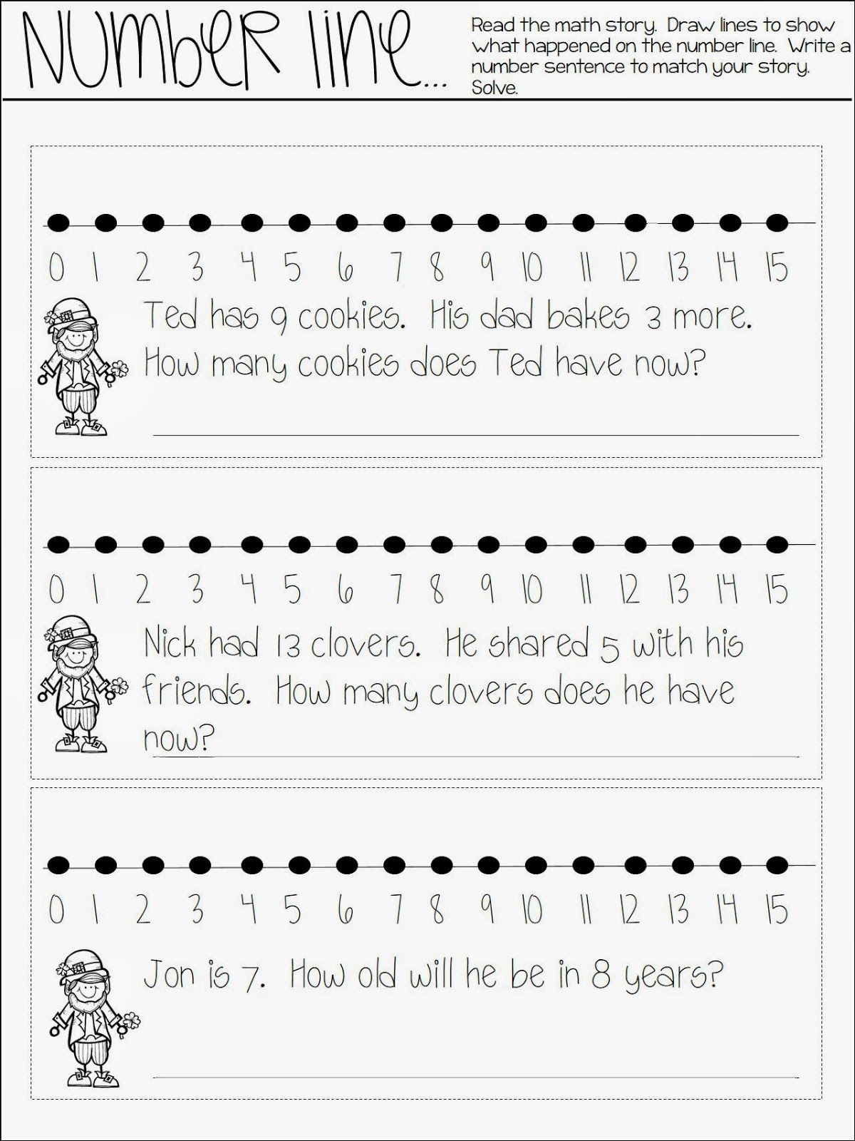 All About Math Journaling Number Line Freebie