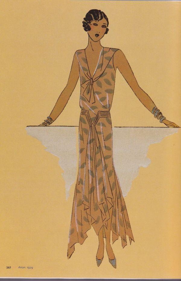 1920s Art Deco Fashion Illustration