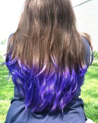 Purple Tips On Light Brown Hair | www.imgkid.com - The ...