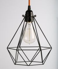 Diamond Oh So Black Cage Light Shade for Industrial Lights