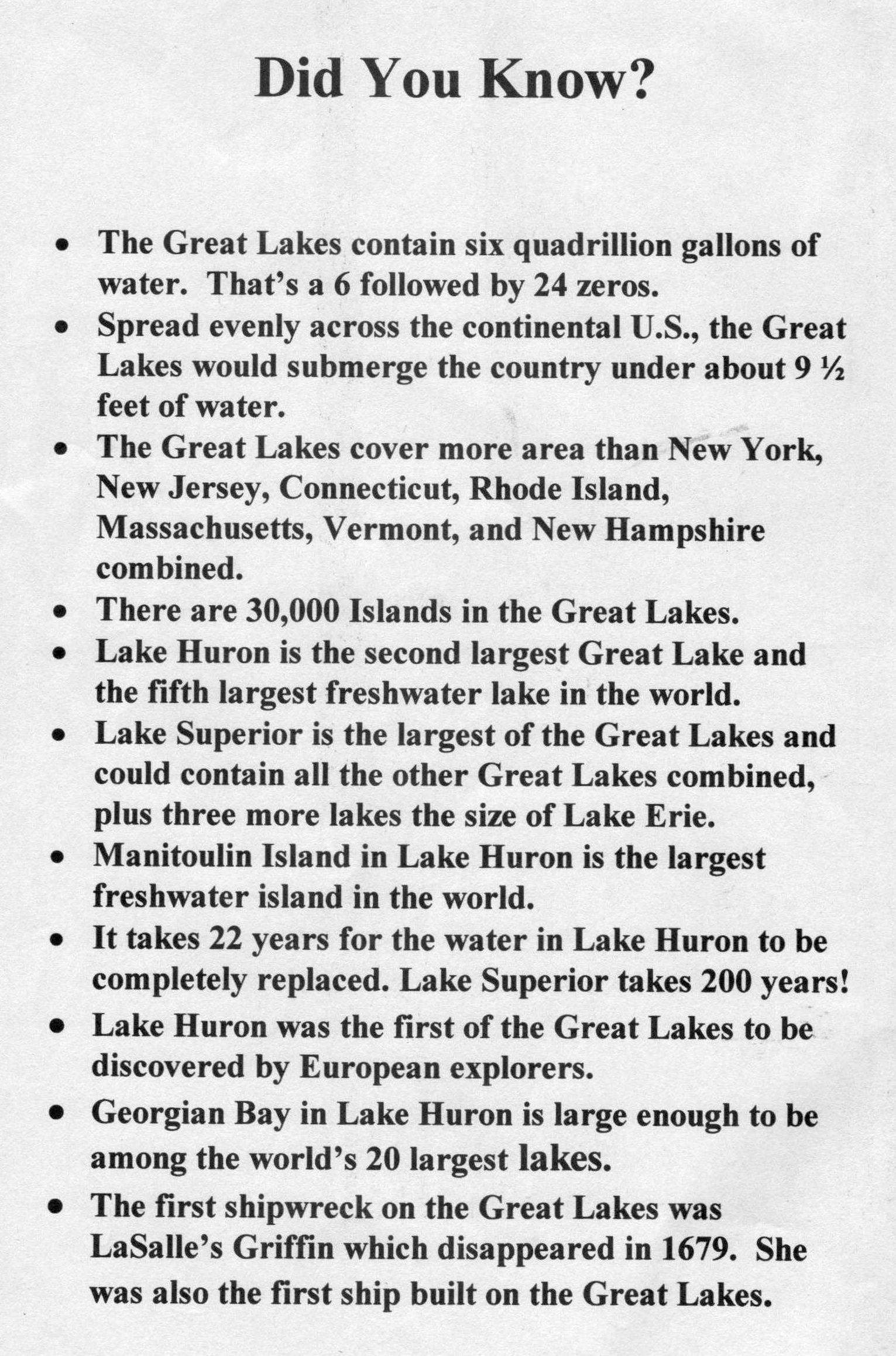 Facts About The Great Lakes Located In Northeastern North