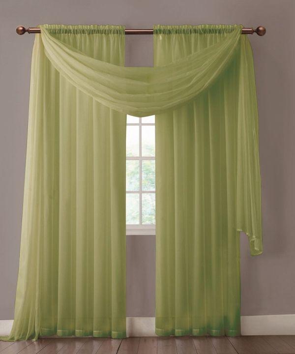 Sage Green Sheer Curtains and Valances