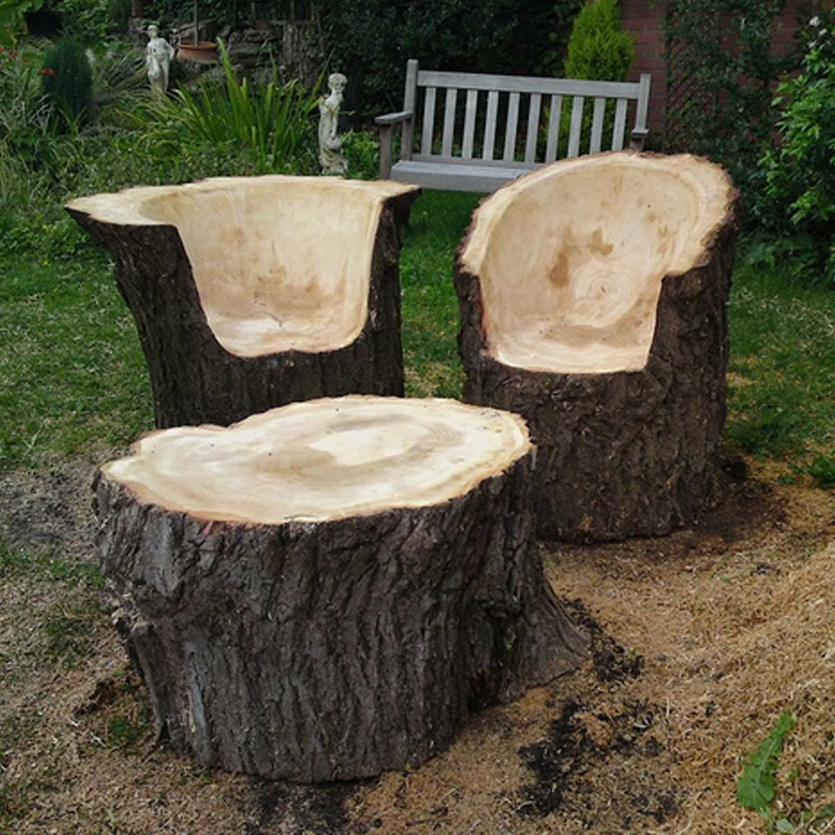 tree stump chairs revolving chair gif pin by jenise tucker on awesomeness pinterest woods