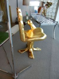 Check out http://handchair.org/ for a chair shaped like a ...