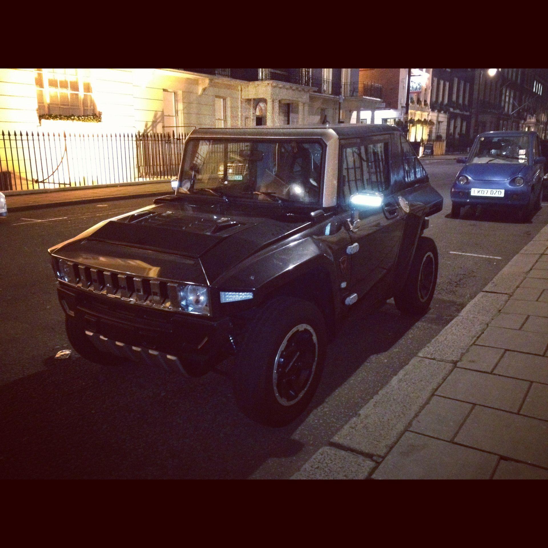 MEV HUMMER HX in Metallic Black Mini HUMMER spotted in London