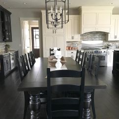 Black And White Kitchen Table Aid Tv Offer Modern Farmhouse With Long Dining