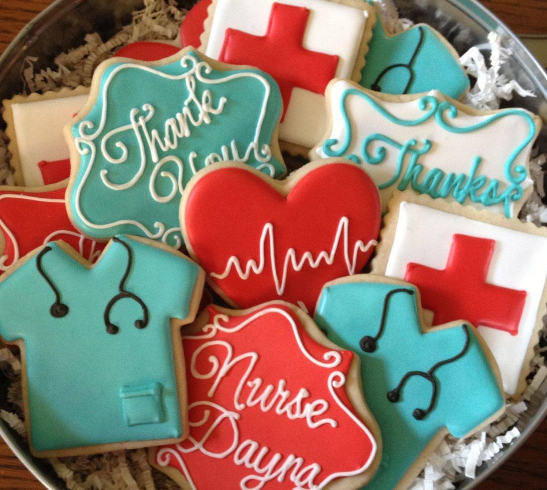 Nurse or physician appreciation sugar cookie by