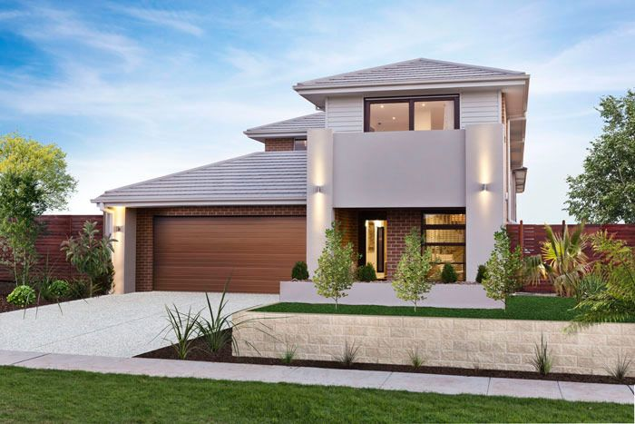 Facades Double Storey House Plans Home Designs Custom Home