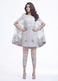 Latest Pakistani Cape Style Dresses 2017