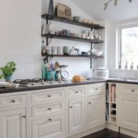 Kitchen Shelves Instead of Cabinets | ... traditional ...
