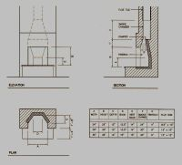Diagram of Rumford Fireplace Dimensions | Llar de foc ...