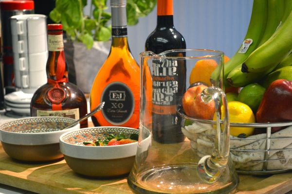 Sangria Sparkler With Wine Brandy And Orange Liqueur