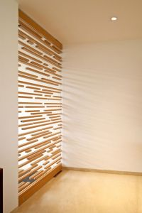 Light + interior architecture: unique wood window panels ...