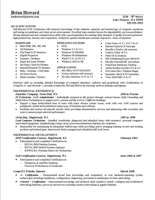 Resume Accomplishments Examples