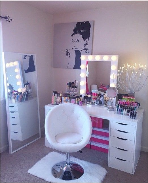 folding chair desk combo leather swivel modern best 25+ makeup ideas on pinterest | dressing table inspo, diy tables and ...