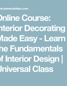 Online course interior decorating made easy learn the fundamentals of design universal also rh pinterest