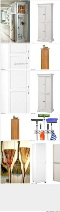 Free Standing Broom Closet Cabinet for the Kitchen or ...