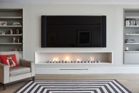 Hole in the wall gas fireplace, contemporary, modern style ...