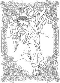 √ Angels And Demons Coloring Pages | Sketches Of Angels And ...